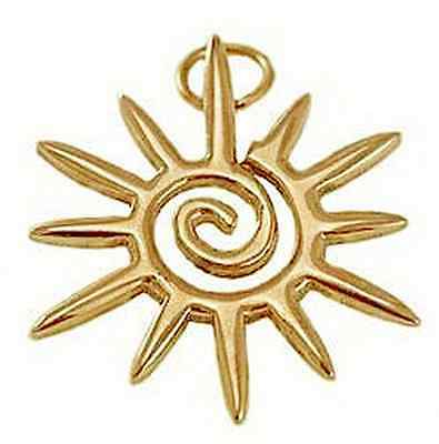 Wicca Celtic Sun Sterling Silver 925 Pendant Charm STAR