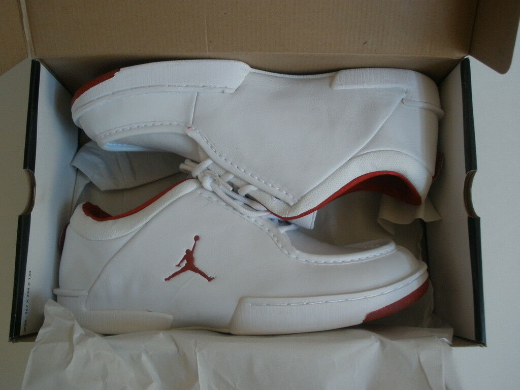 2003 JORDAN CERTIFY WHITE LATHER SHOES US 13 NEW RARE VINTAGE