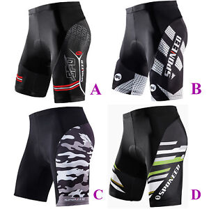 5131c7ef4 Sponeed Men Cycling Shorts Padded Gray Bike 1 2 Pants Pro MTB Road ...