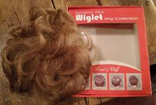Lord Cliff WIGLET (QTY 2) Clip-In Pull-Thru Synthetic Hairpiece Wig DARK BLONDE