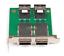 Dual Ports Mini SAS SFF-8088 To 36Pin SFF-8087 PCBA Female Adapter+PCI Bracket