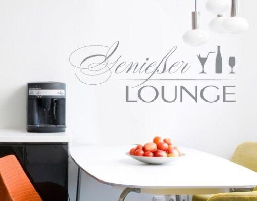 Wandtattoo Genießer Lounge Küche Esszimmer Esstisch Bar Restaurant Flur bsm035