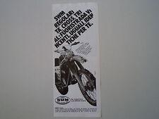 advertising Pubblicità 1980 MOTO SWM RS 347 GS