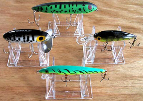 """~30 Adjustable 3 Part 2/"""" Display Stand For South Bend Creek Chub Fishing lures"""
