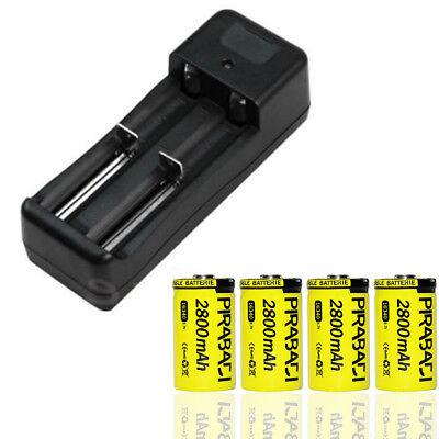 """Ladegerät """" Schnell """" 4 Batterien Wiederaufladbare Cr123a 16340 Li-ion 2800mah Professionelles Design Haushaltsbatterien & Strom Tv, Video & Audio"""