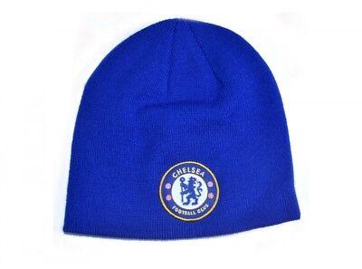 Chelsea Fc Blu Reale Inverno Beanie Maglia Distintivo Cappello Squadra Di Calcio Pacchetti Alla Moda E Attraenti