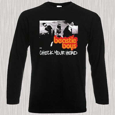 BEASTIE BOYS Rap Hip Hop *LISENCE TO ILL Long Sleeve Black T-Shirt Size S-3XL