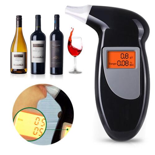 LCD Digitale POLIZIA respiro alcol test etilometro Tester Analizzatore RIVELATORE UK