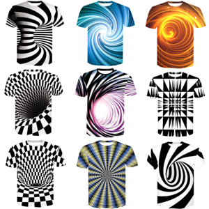 3D-Optical-illusion-T-Shirt-Hypnosis-Swirl-Men-Women-Funny-Short-Sleeve-Tee-Tops