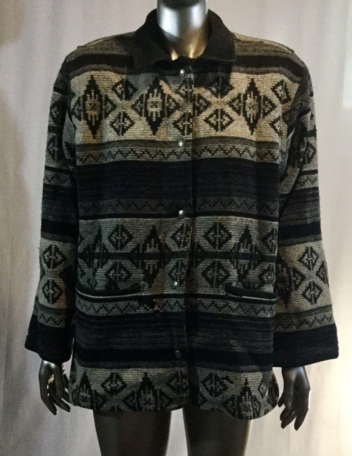 Vintage Woolrich Wool Native Indian Blanket Coat Women's S