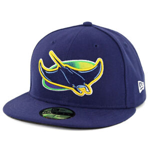 f7b3be18322 New Era 59Fifty Tampa Bay Rays ALT Fitted Hat (Light Navy) MLB Cap ...