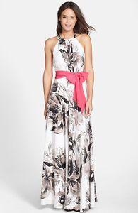 0d239085ec Image is loading Eliza-J-Print-Chiffon-Maxi-Dress-Size-16