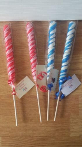 swirly lollypop pre filled sweet cones party favours birthday treat personalised