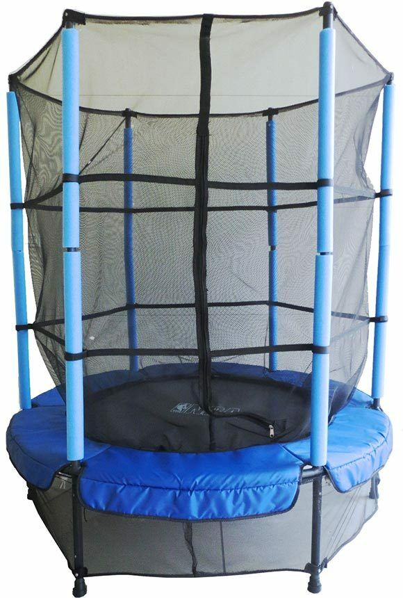 GSD Kindertrampolin 140Ø Kinder Trampolin m. Sicherheitsnetz für In-/Outdoor bl.