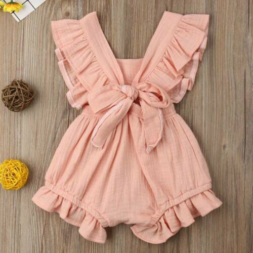 Newborn Infant Kids Baby Girls Romper Jumpsuit Ruffle Playsuit Outfits Costume