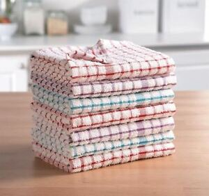 Kitchen Dish Cloths Pack of 3,6,9,12 Terry Cotton Tea Towels Set Cleaning Drying