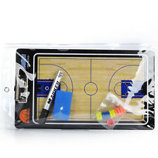 Portable Magnetic Basketball Coaching Board Training Tactics PVC Book Set+Marker