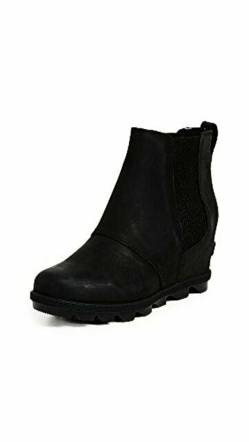 6f2ffd6451e6 Sorel Women s Joan of Arctic Wedge II Chelsea Boot 1808551 Black ...