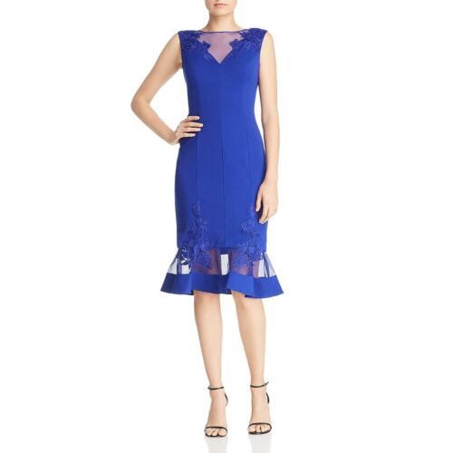 Aidan Mattox Womens Lace Inset Mesh Formal Scuba Dress BHFO 9961