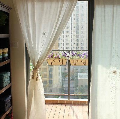 1 PC European Country White Crochet Lace Curtain  Panel Drape