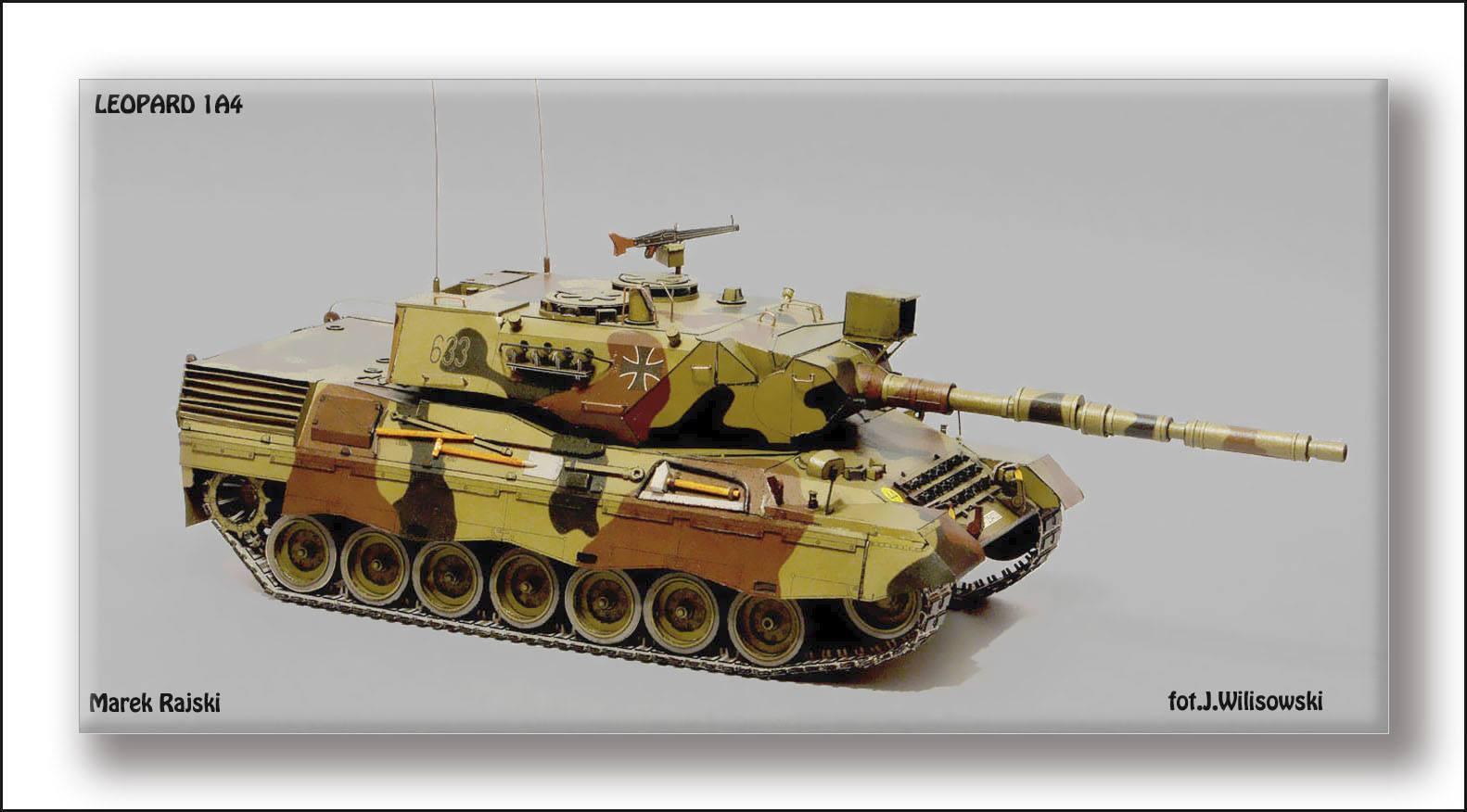 Modelik 12 11 - Solid Leopard 1A4 1 25 with Lasercut Parts