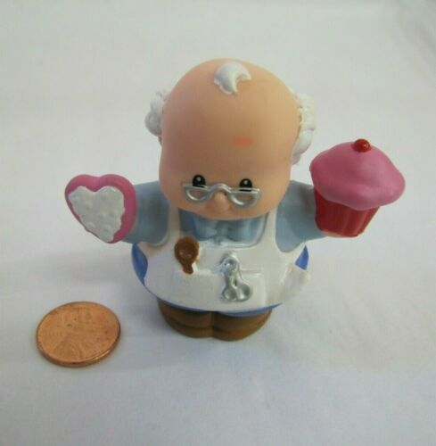 Fisher Price Little People VALENTINES BOB THE BAKER w// CAKE BATTER Christmas