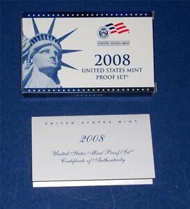 Coins & Paper Money Mint Presidential Proof 4 Coin Set In Original Box & Coa 2008 U.s