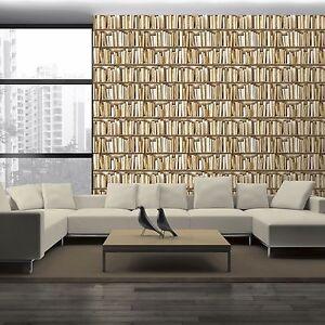 Muriva libreria vitual realt carta da parati naturale for Carta parati libri
