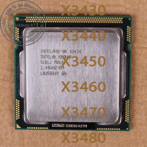 Intel Xeon X3430 X3440 X3450 X3460 X3470 X3480 LGA1156 CPU Processor