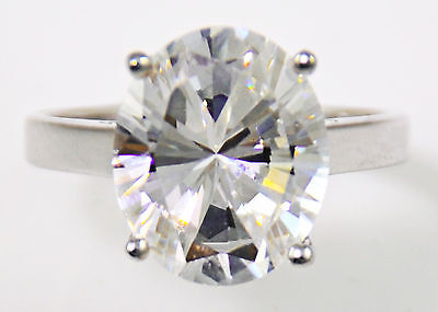 1.5 ct Oval Ring Vintage Top Russian Quality CZ Extra Brilliant Size 8