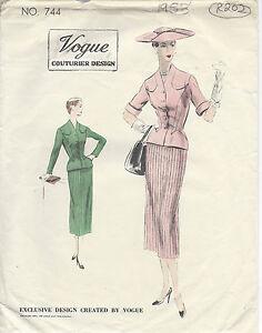 9a268e2340ed 1953 Vintage VOGUE Sewing Pattern B32