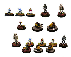 15mm non dipinti SCI-FI Hof Miniatures Robot e droidi 15mm Multi-Listing 1