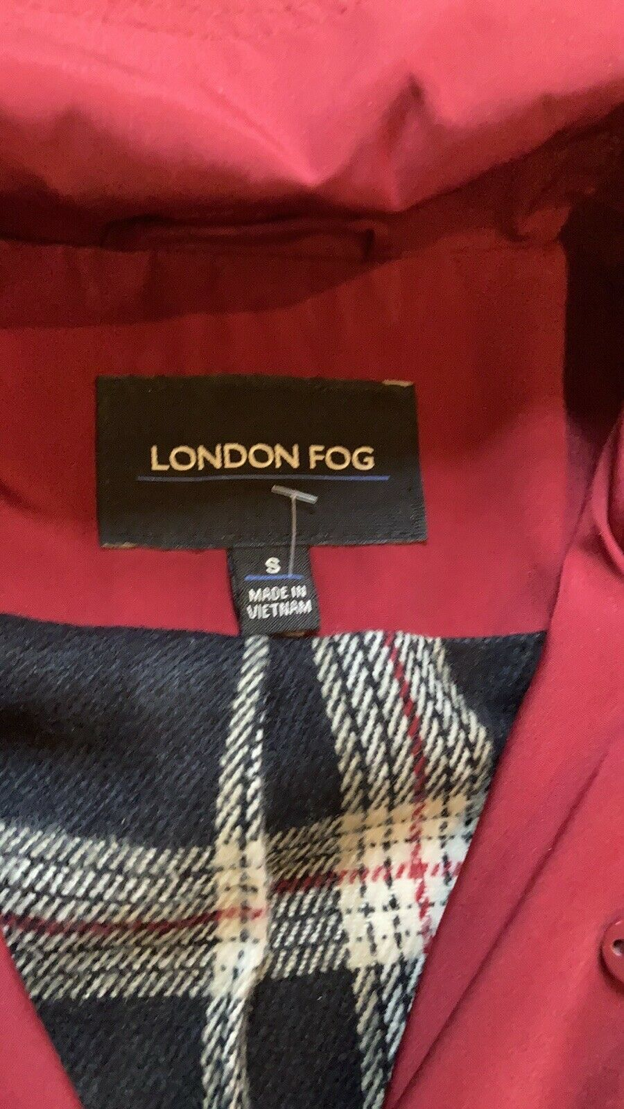 London Fog Red Trench Coat - image 5