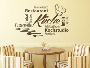 Wandtattoo Küche Esszimmer Wandsticker Sprüche Wortwolke Küche Nr 2 ...