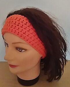 Stirnband-orange-Haarband-Haarschmuck-Kopfband-Kopfschmuck-Geschenk