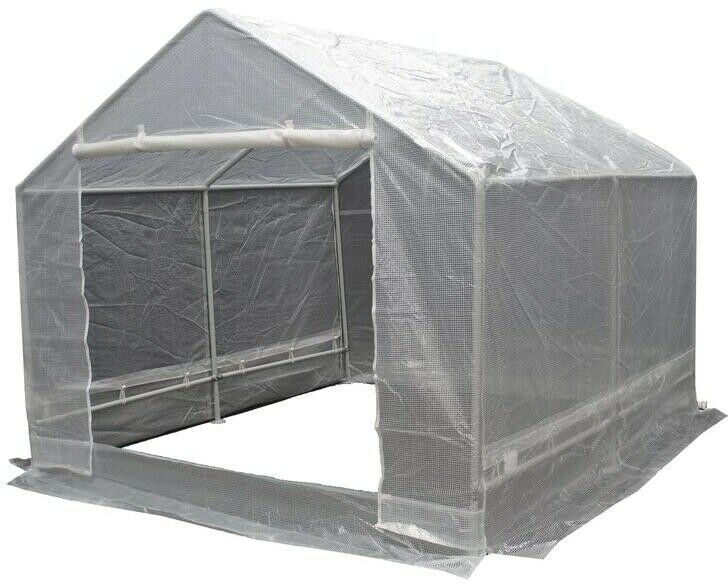 10 ft. x 10 ft. A-Frame Greenhouse Steel w  Mildew and Weather Resistant Cover