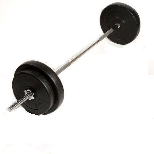 Peso formazione Barbell Set  Piastre di Peso Palestra Casa Multi 17kg  37kg