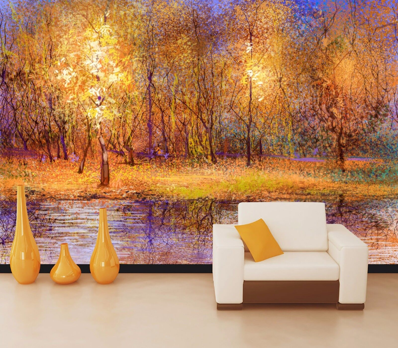 3D Golden woods 4322 Wall Paper Wall Print Decal Wall Deco Indoor Wall Murals