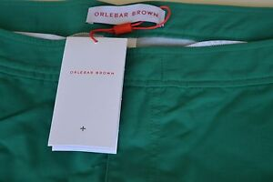 NEW AUTHENTIC MENS ORLEBAR BROWN  SETTER GREEN SHORTS SIZE 38