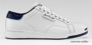 4ea3a71f0036 Men s CONVERSE All Star JACK PURCELL WHITE LEATHER Low Trainers ...
