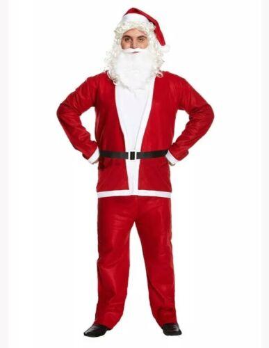 Men/'s Santa Claus Costume Father Christmas Fancy Dress Budget Outfit Suit Adult