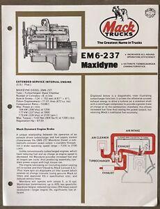 1980-Mack-Maxidyne-Diesel-EM6-237-Engine-original-Australian-sales-brochure