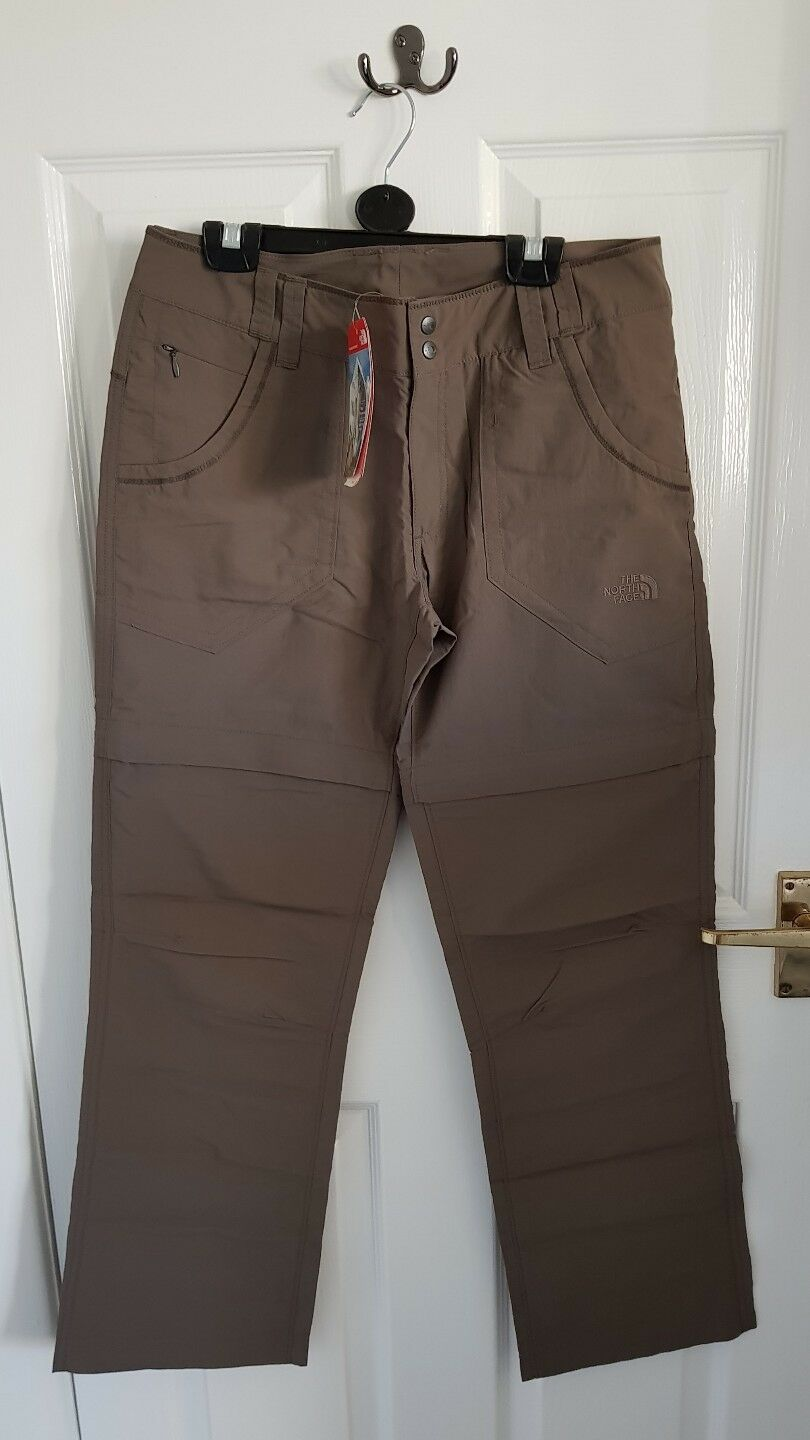 The North Face RRP79 Horizon Congreenible Trousers EU US 8 Zip Shorts 2
