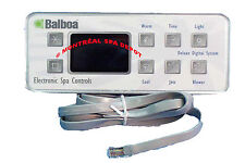 Spa hot tub Balboa WG® SERIAL DELUXE DIGITAL panel keypad, 8-buttons part# 51058