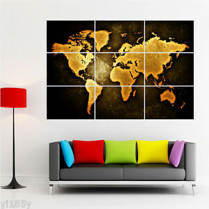 Retro vintage rusty world map poster giant large wall art huge decor retro vintage rusty world map poster giant large gumiabroncs Image collections