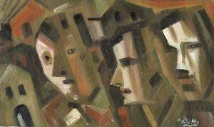 Russischer-Realist-Expressionist-Ol-Leinwand-034-Staedte-und-Jahre-034-60x35-cm