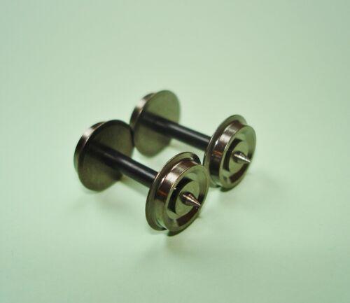 10xH0-Gleichstrom//DC geteilte Achse für Roco11,0mm A:24,75mm;mittig isoliert NEU