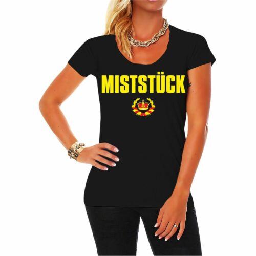 5XL Frauen T-Shirt Miststück lustiger Spruch Statement Status Ladies Größe XS