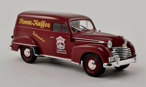 Wonderful modelcar OPEL OLYMPIA OLYMPIA OLYMPIA PANEL VAN  Roma Kaffee  1953- darkred - 1 43 6b521a