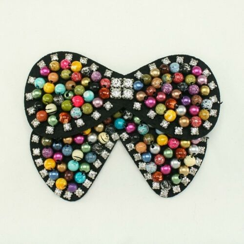 SEQUIN BEADED APPLIQUE Rhinestone Applique for Hair accessories Brooch pins DIY